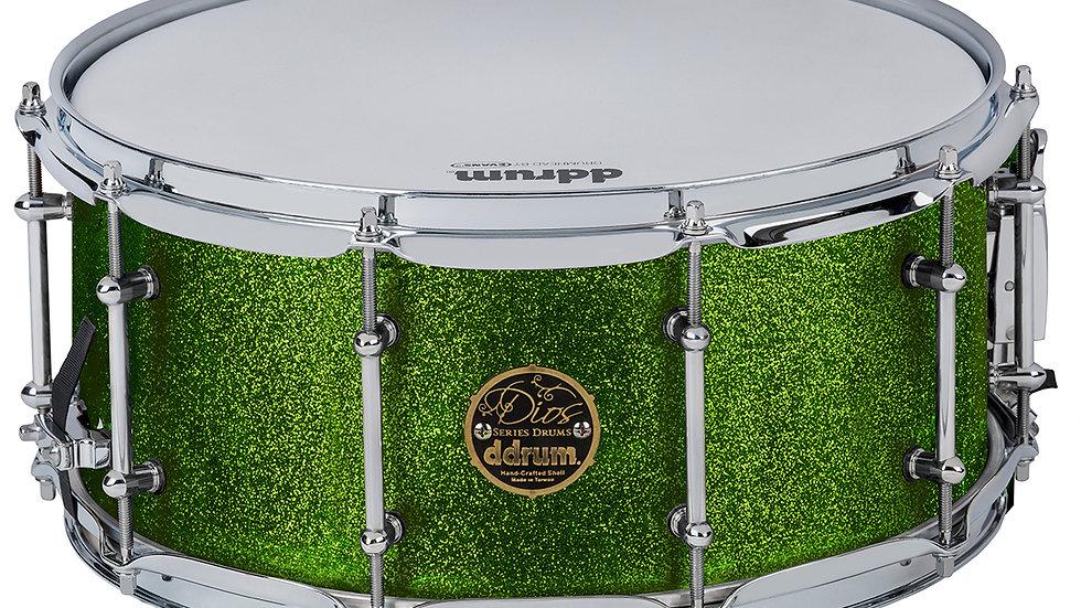 ddrum Dios 6.5X14 Emerald Green Sparkle Snare Drum