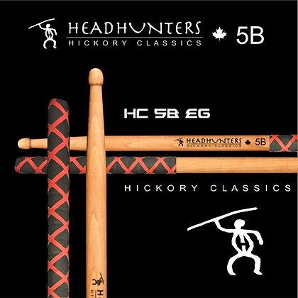 Headhunters Hickory Classic 5B Extreme Grip