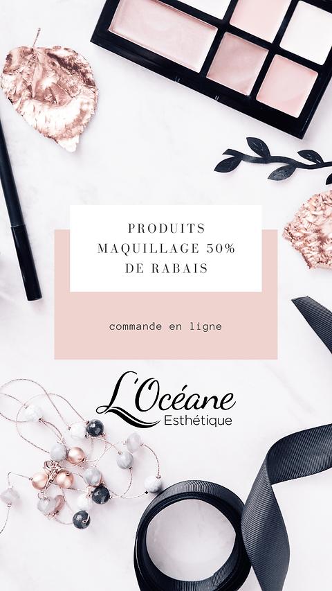 maquillage 50% de rabais
