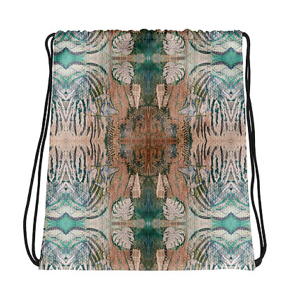 Abstract Drawstring bag with artwork by Francoise Hazel