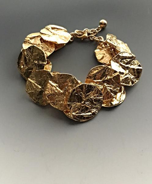 Makeeta Gold Disk Bracelet by Lunaversoul