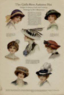 EARLY 1900'S LADIES HAT AD