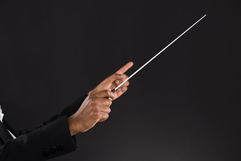 Close-up Of Female Orchestra Conductor H