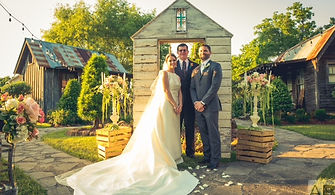 wedding, officiant, married, Houston, Paul House, Get Married in Houston, bride, groom, kiss, Wedding Wire, smile