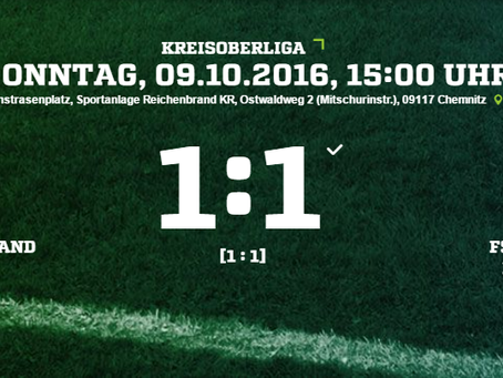 1. Herren: 1:1 Unentschieden gegen Eiche Reichenbrand