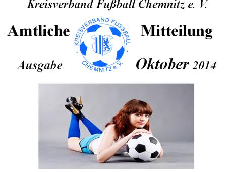 Amtliche Mitteilung Oktober 2014 vom KVFC