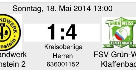 1. Mannschaft: Verdiente 3 Punkte gegen Handwerk II.
