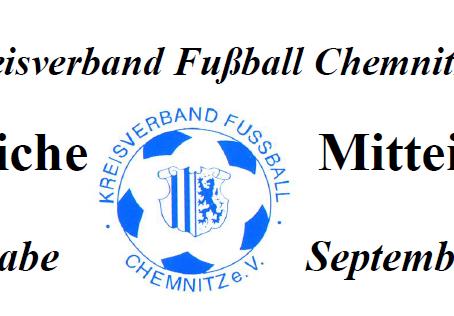 Amtliche Mitteilung September 2014 vom KVFC