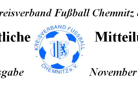 Amtliche Mitteilung November 2014 vom KVFC