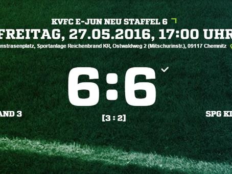 E2-Junioren mit torreichem 6:6 Unentschieden gegen Eiche Reichenbrand 3