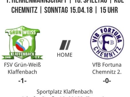1. Herren: Klaffenbach schlägt Spitzenreiter VfB Fortuna 2.