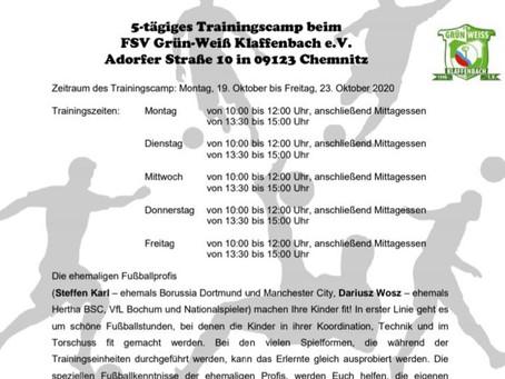 5 tägiges Fussball-Traingingscamp mit Steffen Karl