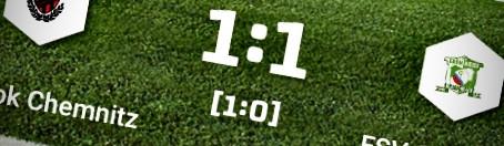 2. Herren: Unentschieden bei ESV LOK Chemnitz