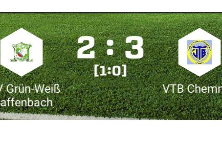 1. Herren: Bittere 2:3 Niederlage nach 2:0 Führung gegen VTB