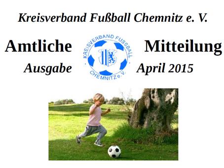 Amtliche Mitteilung April 2015 vom KVFC