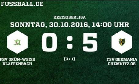 1. Herren: 0:5 – Herbe Niederlage im Spitzenspiel gegen TSV Germania Chemnitz