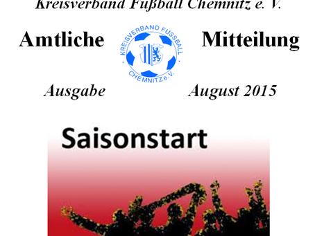 Amtliche Mitteilung August 2015 vom KVFC