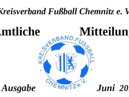 Amtliche Mitteilung -Juni 2015- vom KVFC