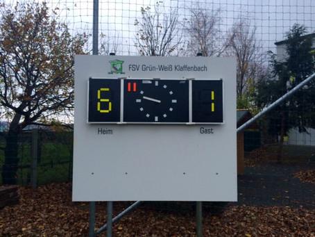 1. Mannschaft souverän mit 6:1 Heimsieg im Derby gegen Einsiedel