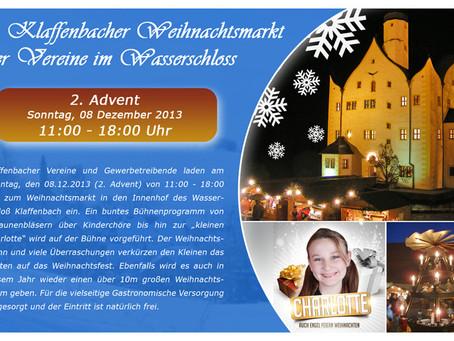 Weihnachtsmarkt der Vereine am 2. Advent im Wasserschloß Klaffenbach