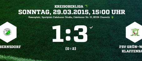 1. Mannschaft: 3 Punkte gegen SV Bernsdorf