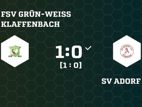 1. Herren: Knapper 1:0 Derbysieg gegen Adorf