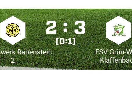 1. Herren: Mühsamer 2:3 Sieg gegen Rabenstein 2.