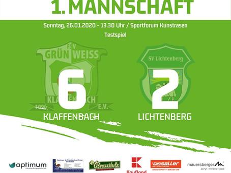 1. Herren: 6:2 Sieg im Testspiel gegen SV Lichtenberg