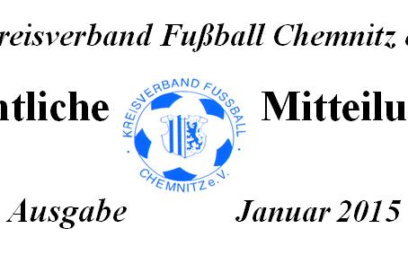 Amtliche Mitteilung Januar 2015 vom KVFC