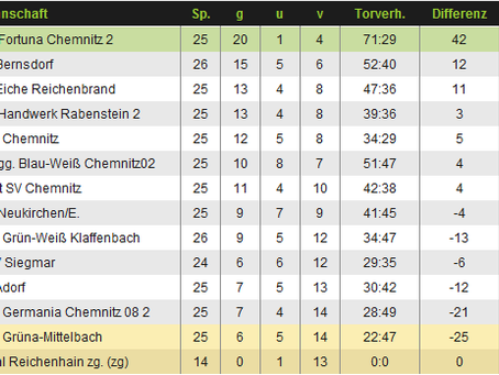 2:2 Remis zum Saisonfinale gegen SV Eiche Reichenbrand