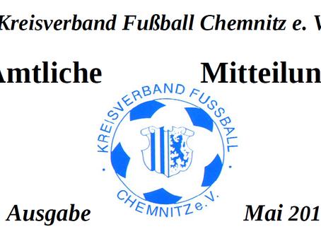 Amtliche Mitteilung Mai 2015 vom KVFC