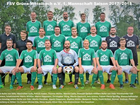 1. Herren: Enttäuschende 5:1-Niederlage gegen Grüna-Mittelbach