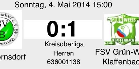 1. Mannschaft: Dominierende erste Halbzeit bringt Klaffenbach den Sieg