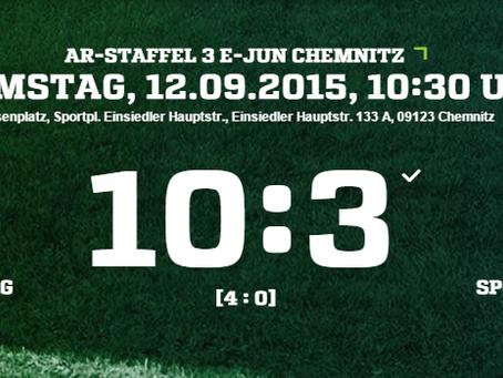 E2: Bittere 10:3 Niederlage gegen SpG Einsiedel/Amtsberg 1
