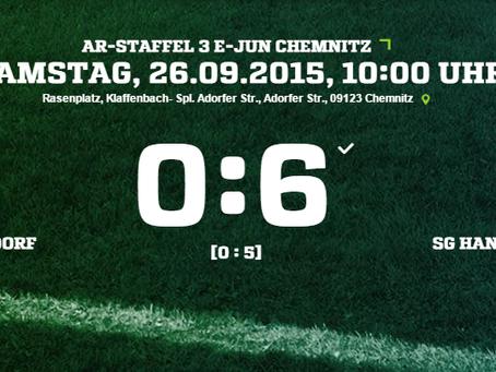 E2-Junioren: 0:6 Heimniederlage gegen Rabenstein