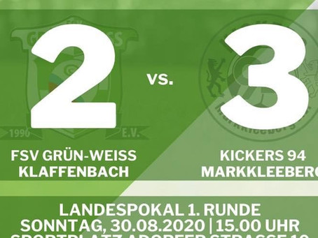 Raus mit Applaus – Klaffenbach verliert unglücklich im Sachsenpokal gegen Kickers 94 Markkleeberg