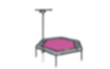 Jumping® Trampoline EXCELLENT Pink or Gr