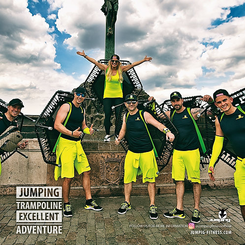Jumping Adventure Trampolin Grün oder Pink