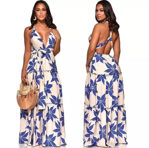 Floral summer long dress