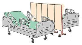 Katlanabilir Pravan Hastane Paravanı Hasta Paravanı Ofis Bölme Antibakteriyel Alev Almaz Geri Dönüşümlü  Modüler Paravan Sistemleri