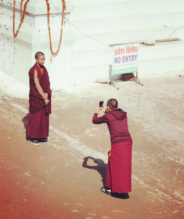 Monks with Mobiles