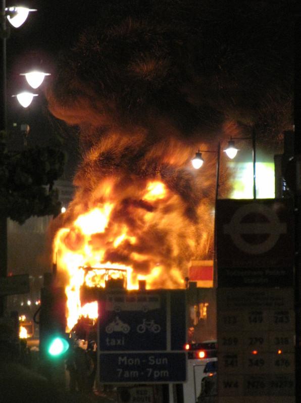 Bus Skull Fire