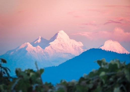 Sunrise over the Himialayas