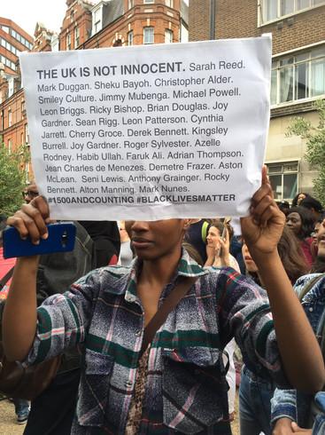 UK is not innocent - Black Lives Matter