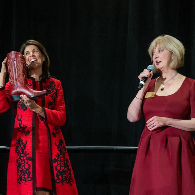 Nikki Haley and Lane Sullivan