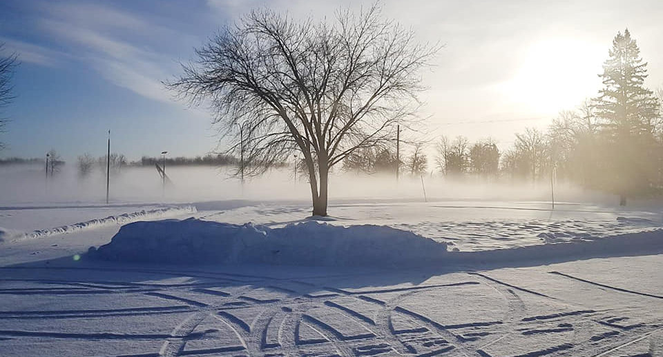 Winter View from Pinawa Motel