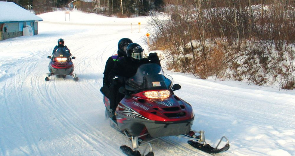 Snowmobiling trails