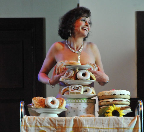 Street Theatre's Production of Calendar Girls Celia needs bigger buns