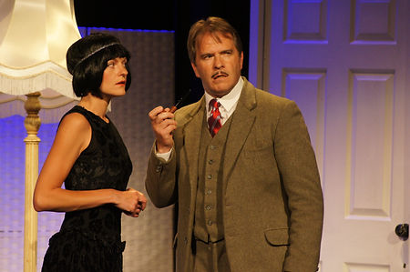 Street Theatre's Production of The 39 Steps Annabel and Hannay