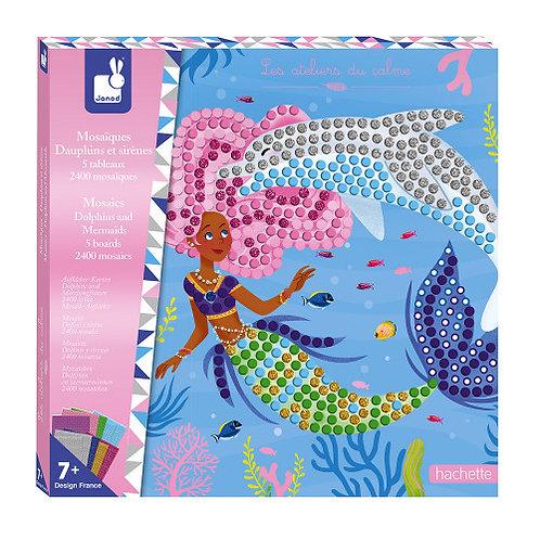 Kit créatif mosaïques dauphins et sirènes
